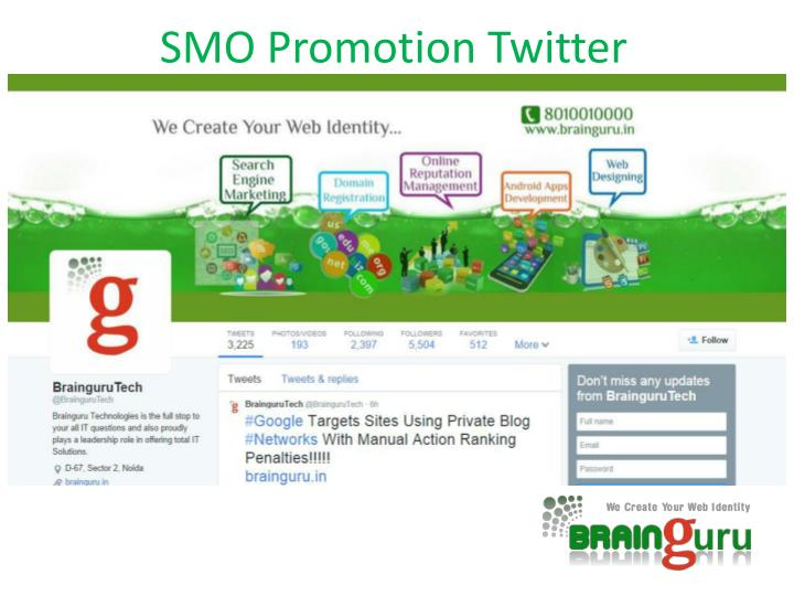 SMO Promotion Twitter