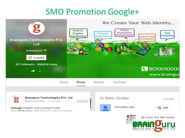 SMO Promotion Google+
