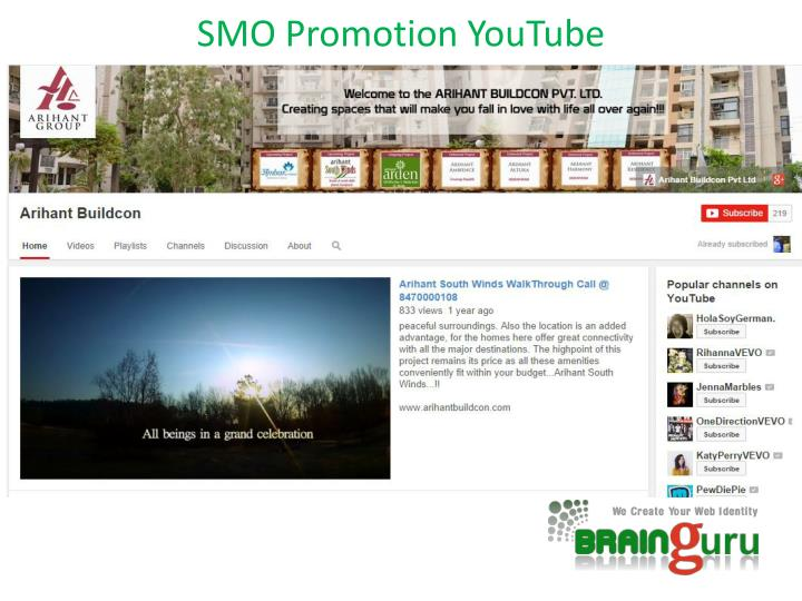 SMO Promotion YouTube