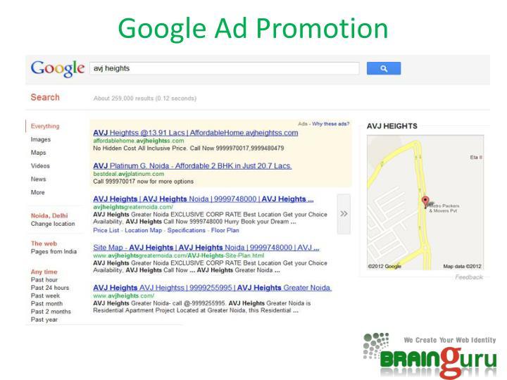 Google Ad Promotion