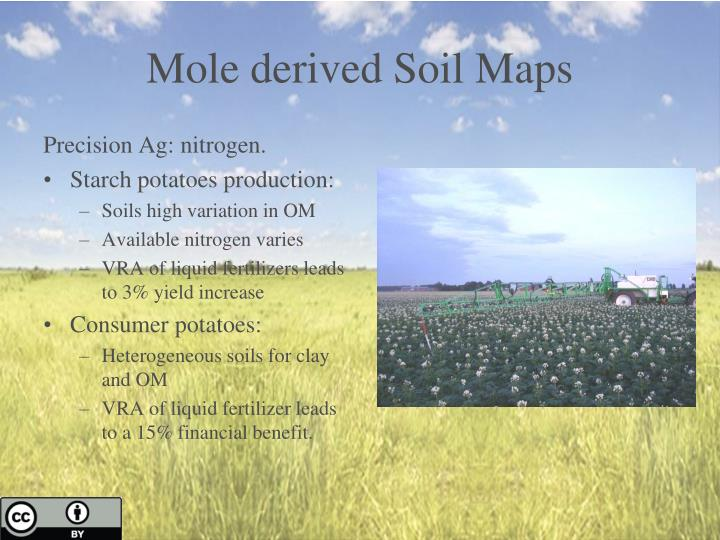 Mole derived Soil Maps