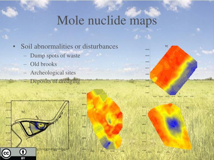 Mole nuclide maps