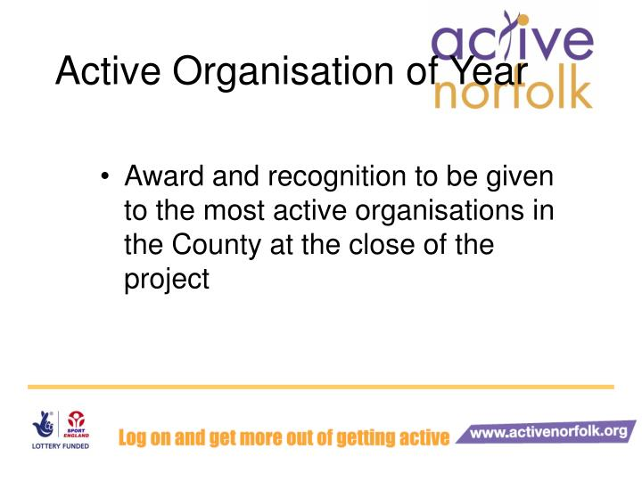 Active Organisation of Year
