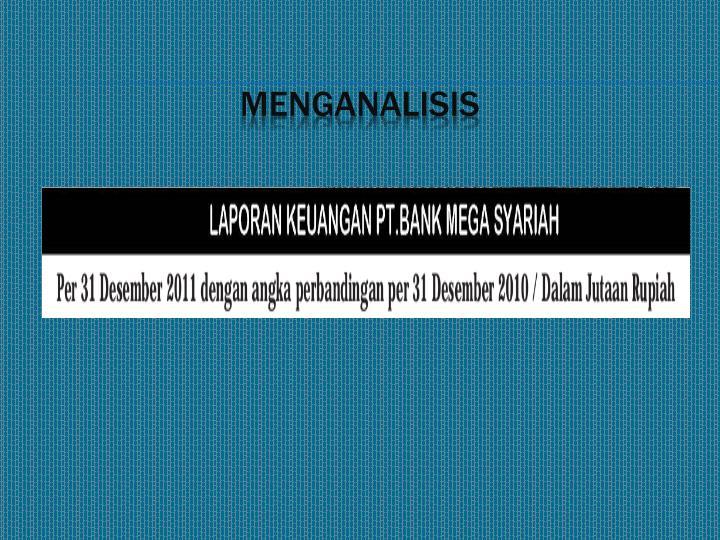 Menganalisis