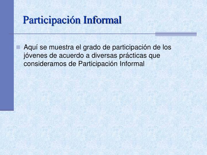 Participación Informal
