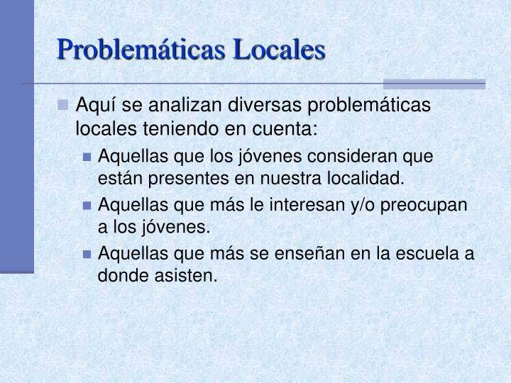 Problemáticas Locales