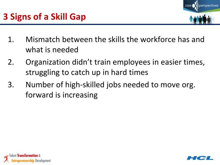 3 Signs of a Skill Gap