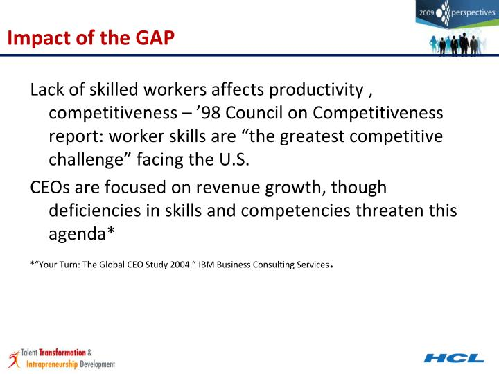 Impact of the GAP