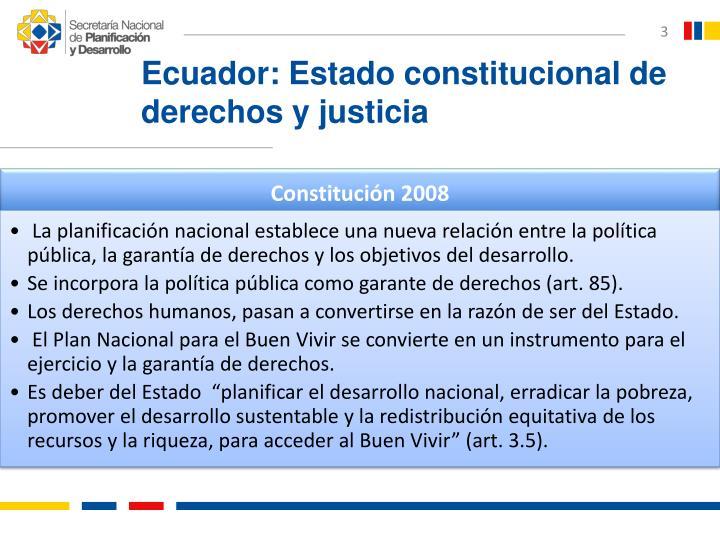 Ecuador: Estado constitucional de derechos y justicia