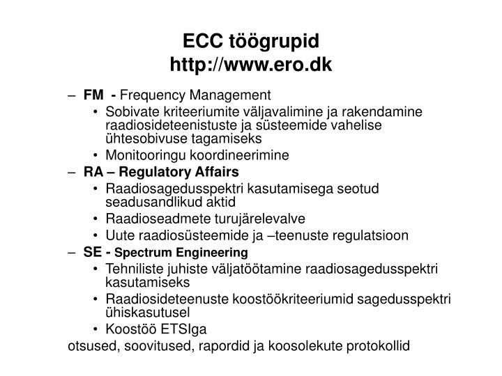 ECC töögrupid
