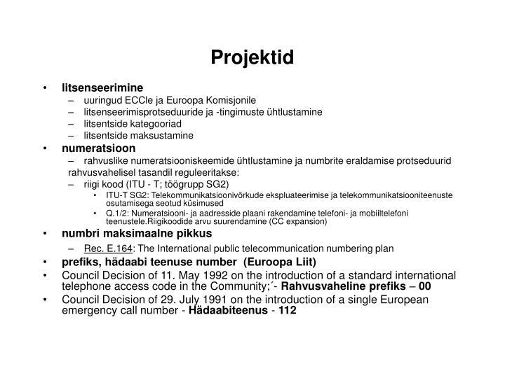 Projektid