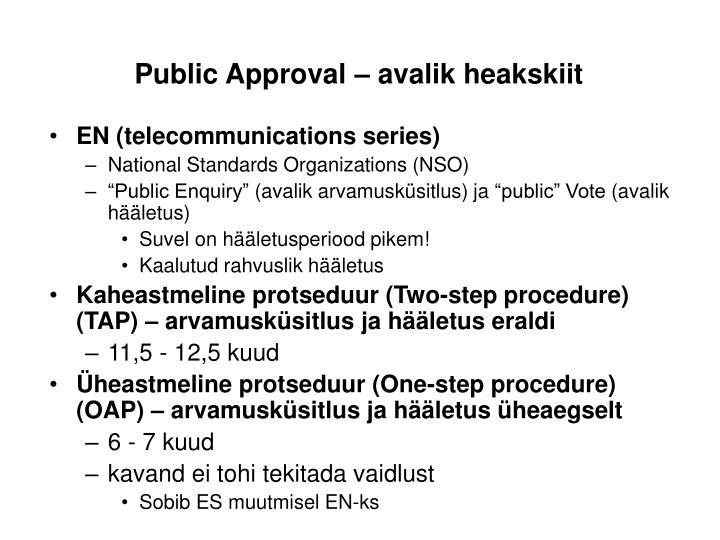 Public Approval