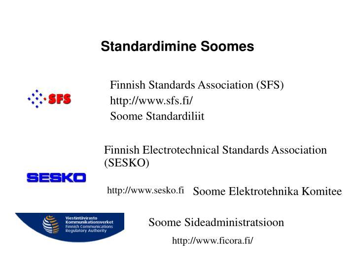 Standardimine Soomes