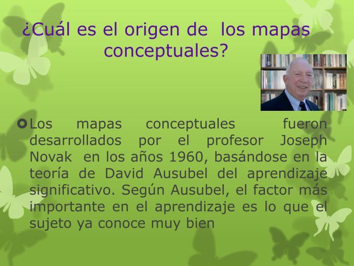 ¿Cuál es el origen de  los mapas conceptuales?