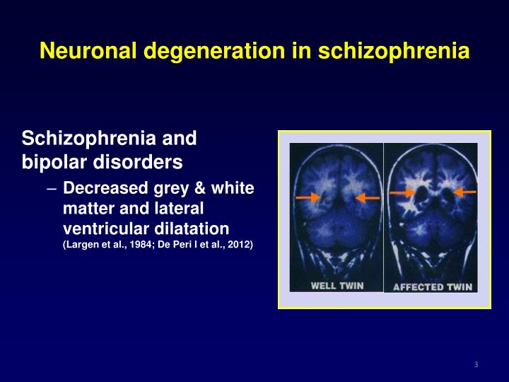 Neuronal degeneration in schizophrenia