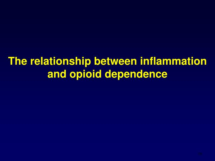 The relationship between inflammation and opioid dependence
