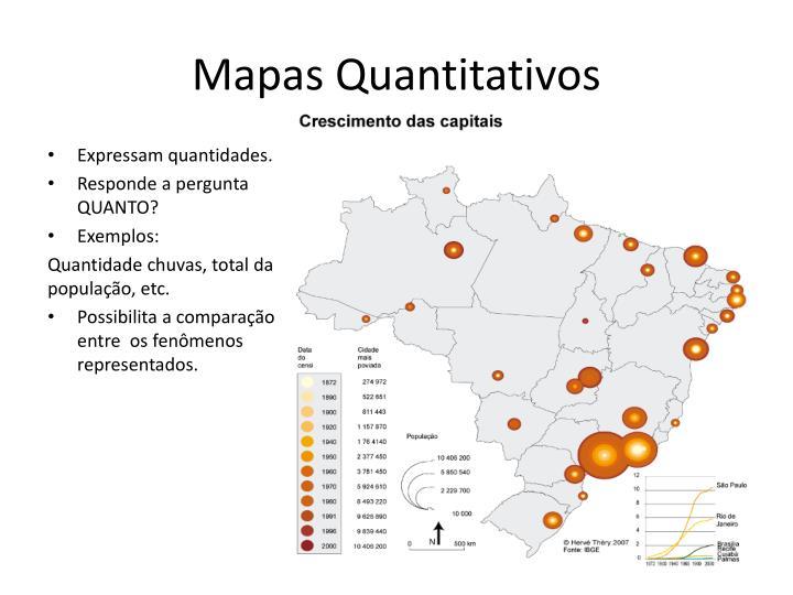 Mapas Quantitativos