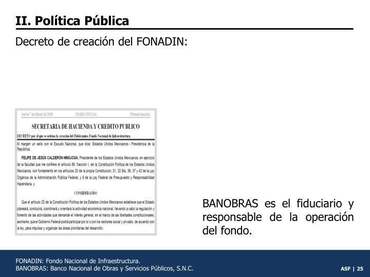 II. Política Pública