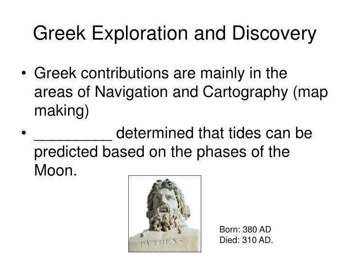 Greek Exploration and Discovery