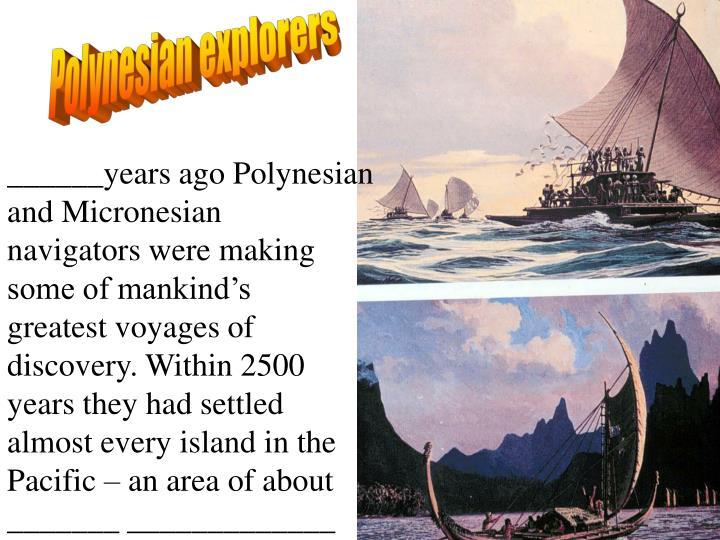 Polynesian explorers