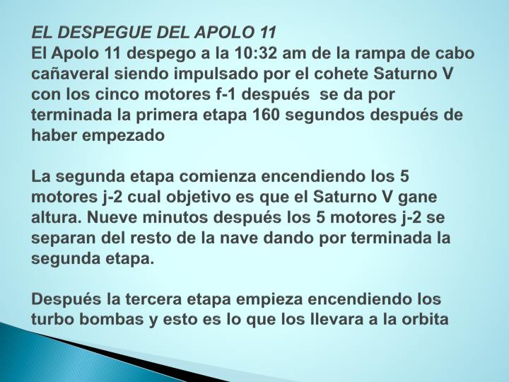 EL DESPEGUE DEL APOLO 11