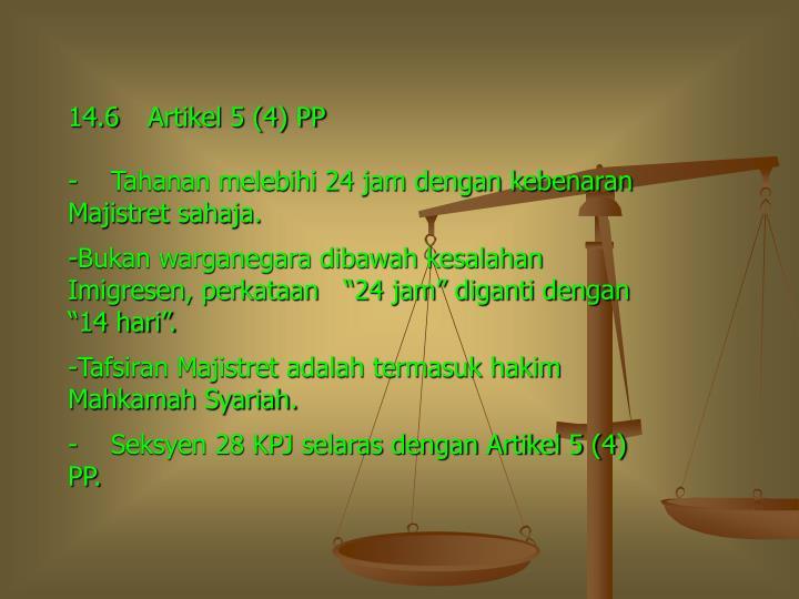14.6Artikel 5 (4) PP