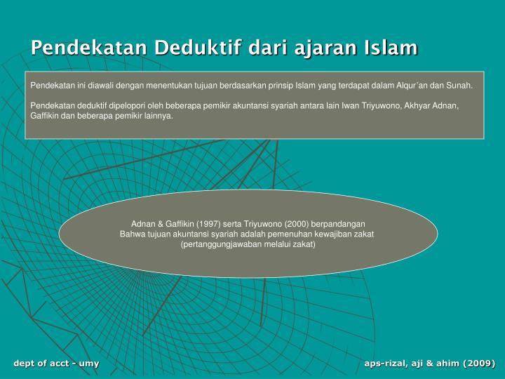 Pendekatan Deduktif dari ajaran Islam
