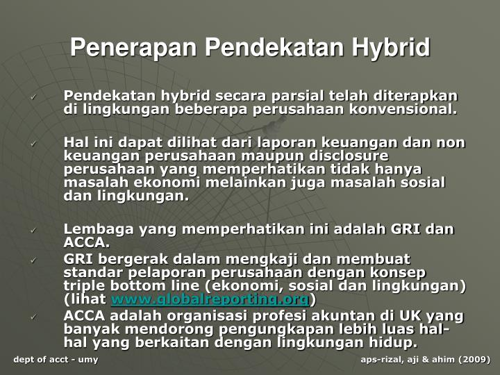 Penerapan Pendekatan Hybrid