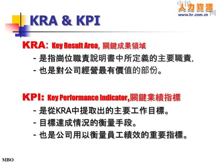 KRA & KPI