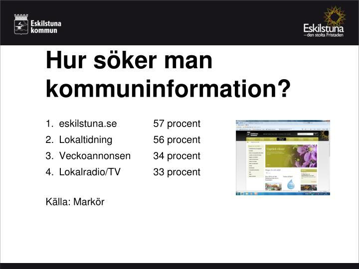 Hur söker man kommuninformation?