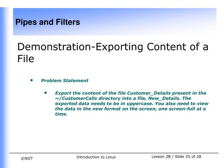 Demonstration-Exporting Content of a File