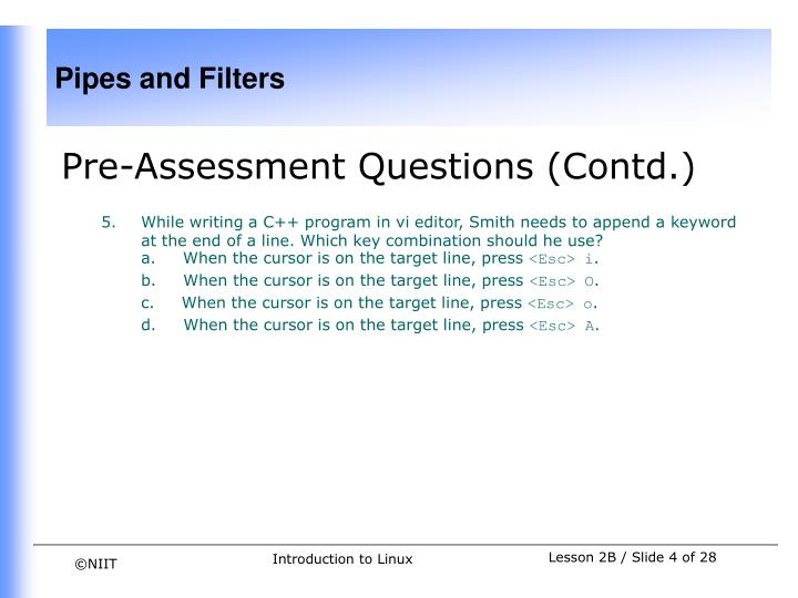 Pre-Assessment Questions (Contd.)