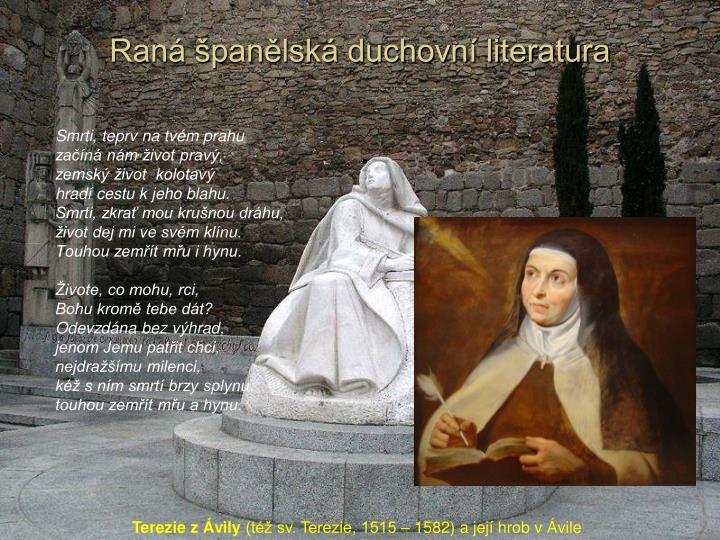 Raná španělská duchovní literatura
