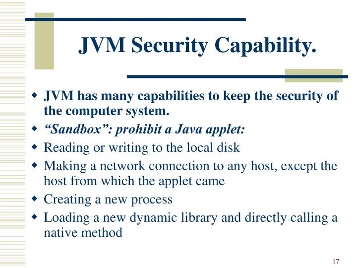 JVM Security Capability.