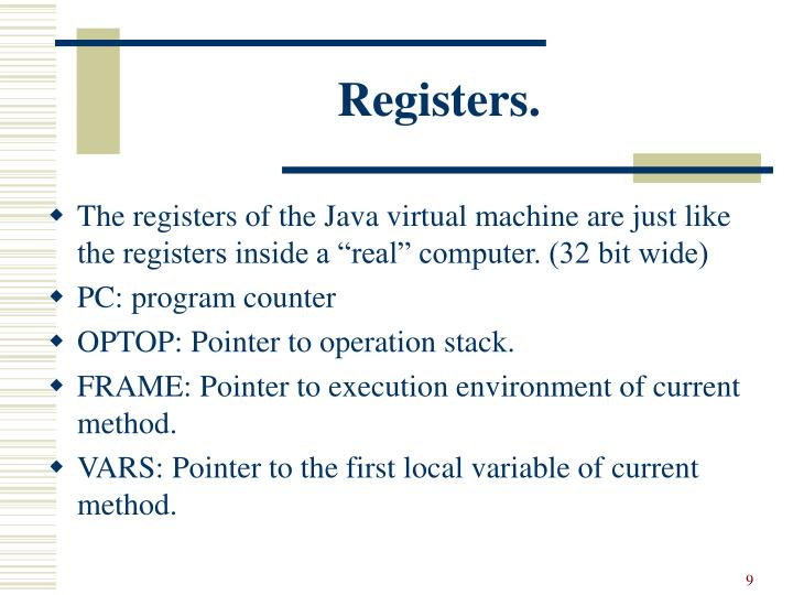 Registers.