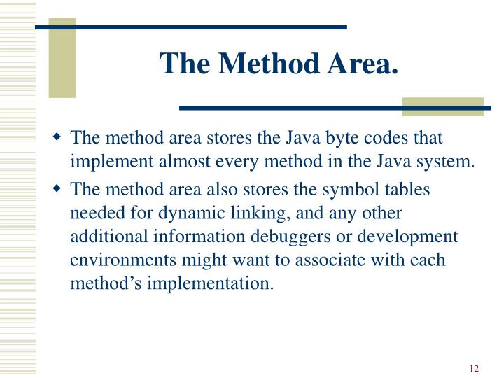 The Method Area.