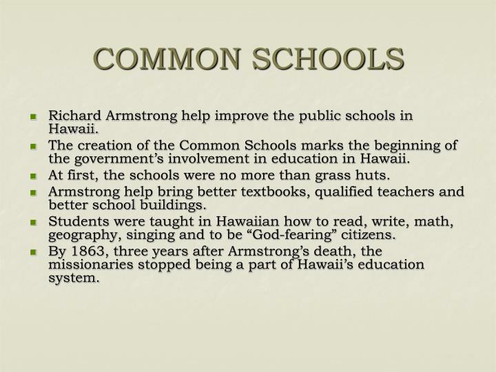 COMMON SCHOOLS
