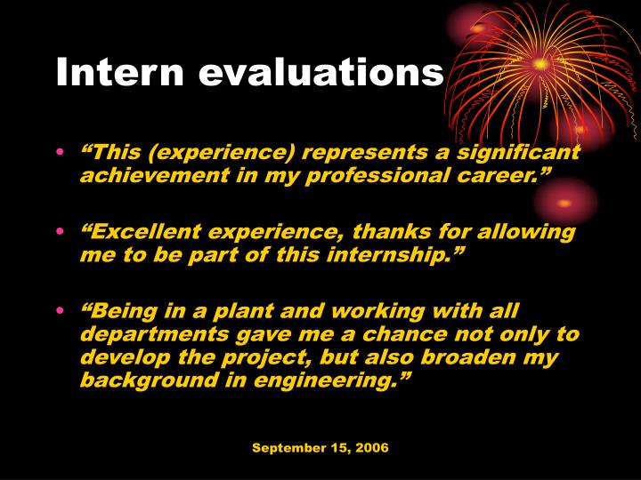 Intern evaluations