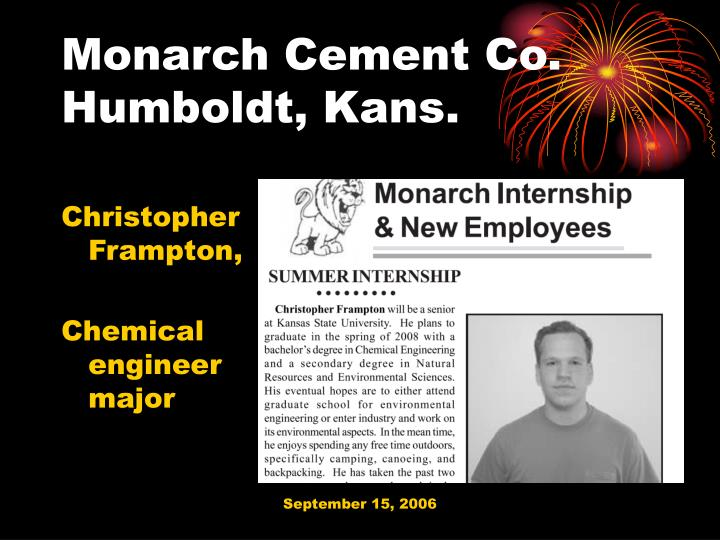 Monarch Cement Co.