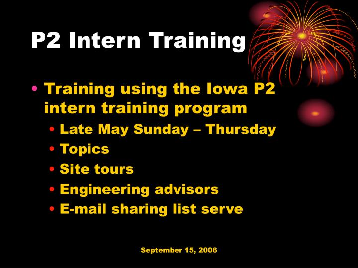 P2 Intern Training