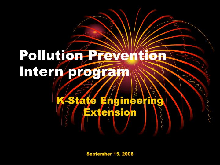 Pollution prevention intern program