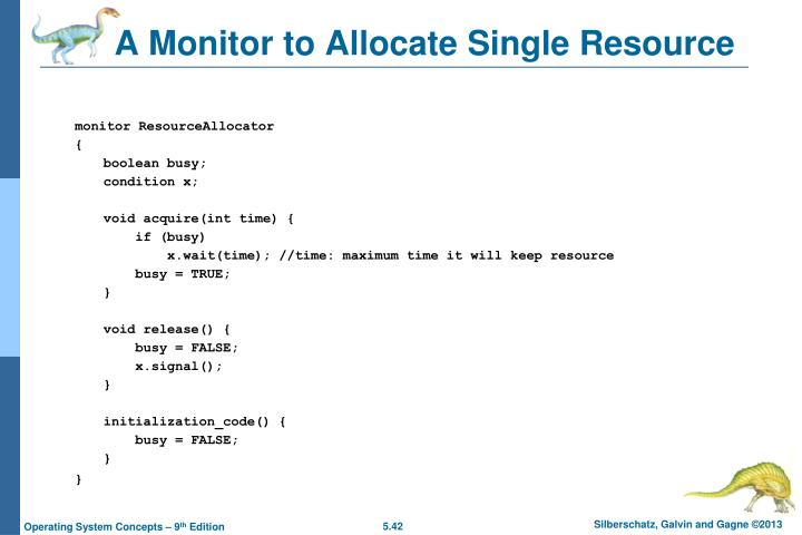 A Monitor to Allocate Single Resource