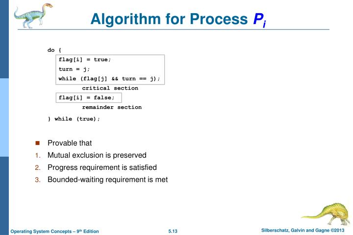 Algorithm for Process
