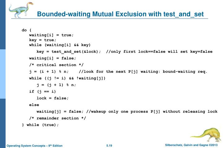 Bounded-waiting Mutual Exclusion with test_and_set