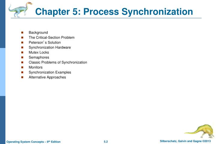 Chapter 5 process synchronization1