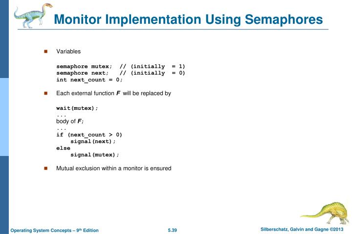Monitor Implementation Using Semaphores