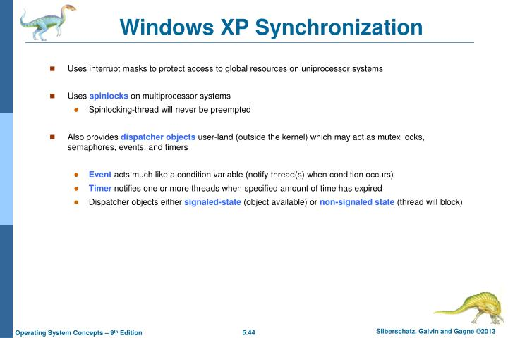 Windows XP Synchronization