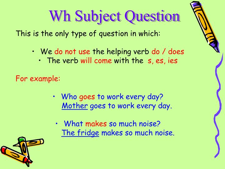 Wh Subject Question
