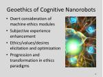 geoethics of cognitive nanorobots1