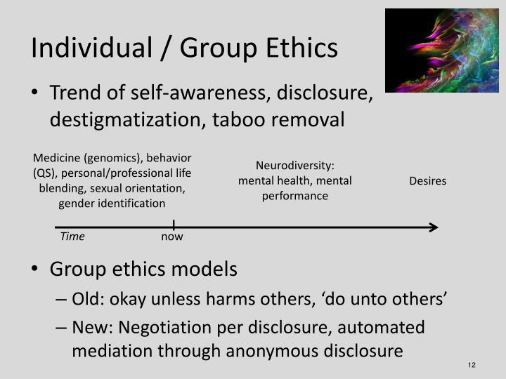 Individual / Group Ethics